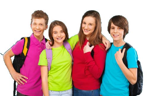 ragazzi gruppo scuola