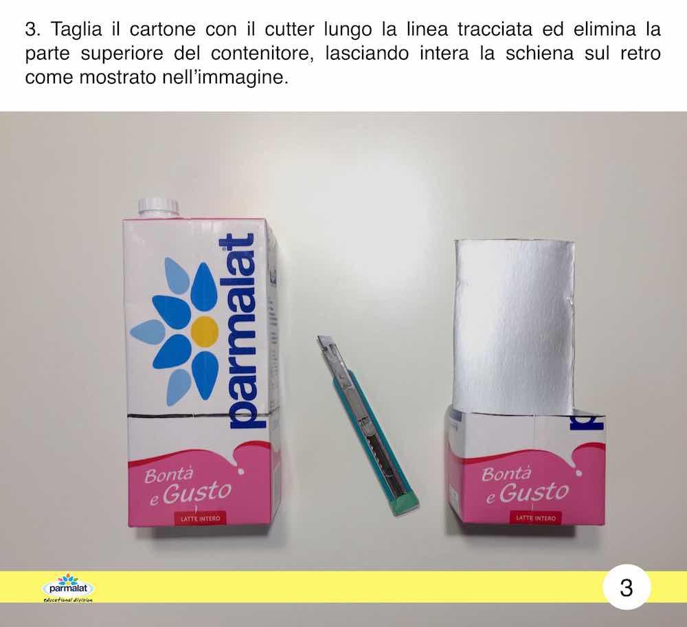 Cestini pasquali con il cartone del latte