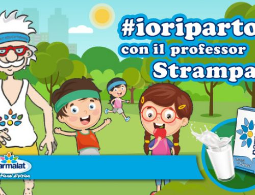 #IORIPARTO con il Professor Strampalat: nuovi contenuti all'insegna del benessere e della positività