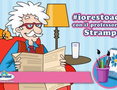 #IORESTOACASA con il Professor Strampalat: vicini ad alunni, insegnanti e famiglie