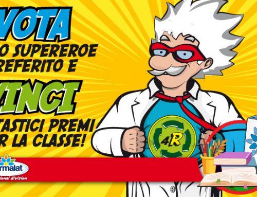 Votate il vostro Supereroe del Riciclo e vincete fantastici premi per la classe!